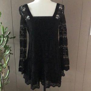 Kimchi Blue Brand Black Lace Mini Dress